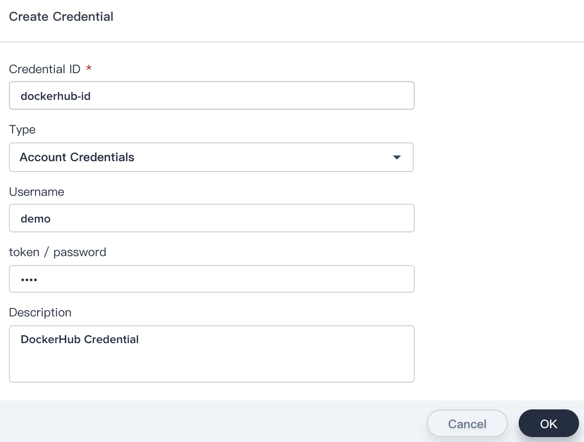 Dockerhub credential